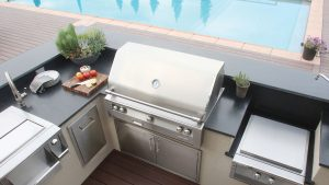 Grill by the Pool